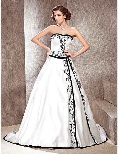 vestido noiva preto branco 9