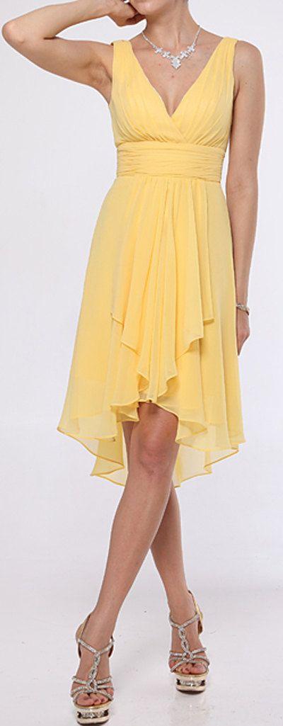 vestido para casamento amarelo
