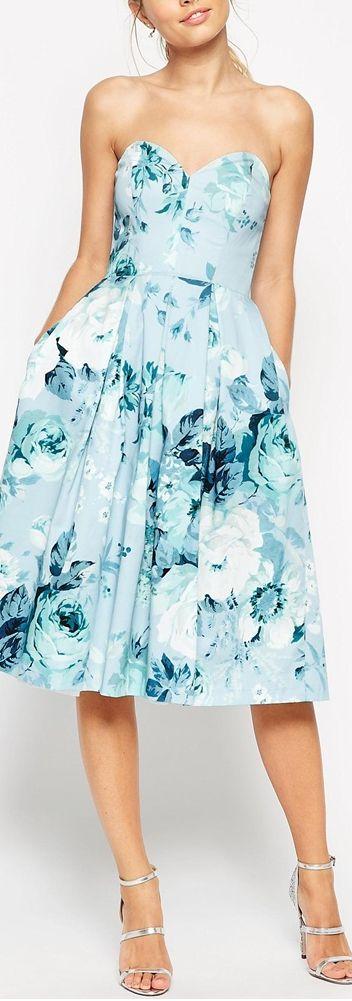 vestido para casamento azul
