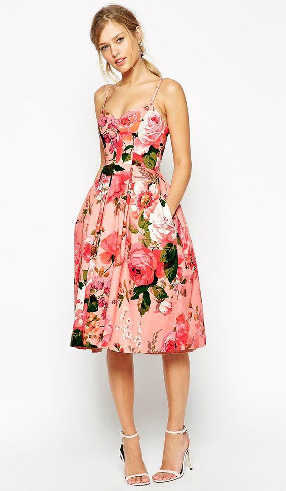vestido para casamento floral 1
