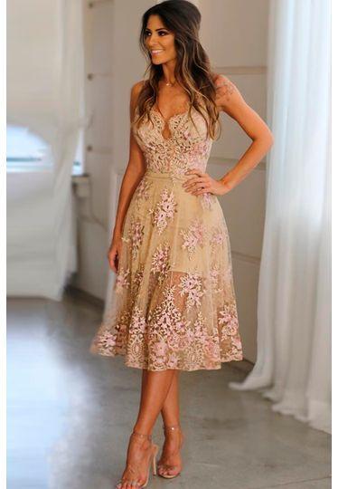 vestido para casamento floral