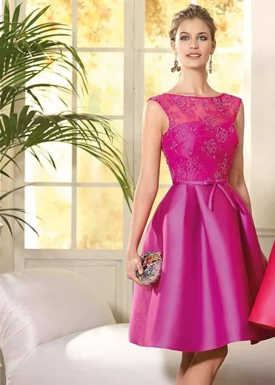 vestido para casamento rosa