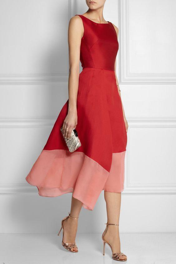vestido para casamento vermelho