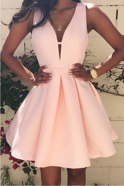 vestido para festa curto rosa