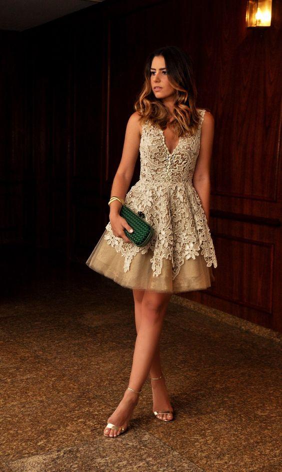 046f91f5f41 10+ Modelos de Vestidos de Renda Curtos