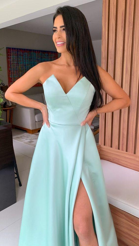 vestido verde agua 2