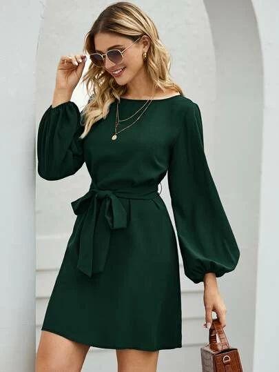vestido verde casual 2