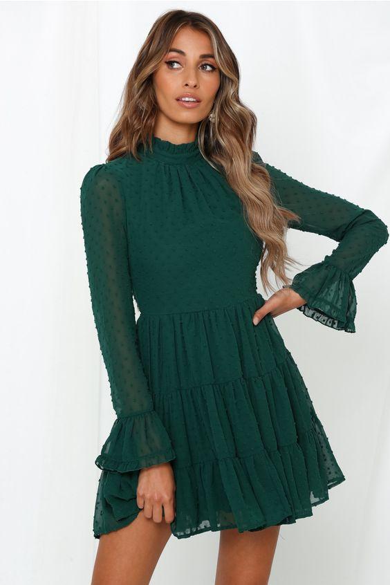 vestido verde casual 3