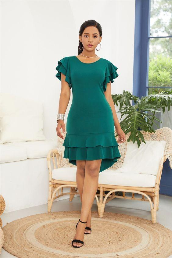 vestido verde casual