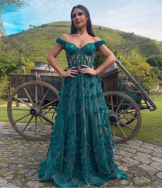 vestido verde festa 2