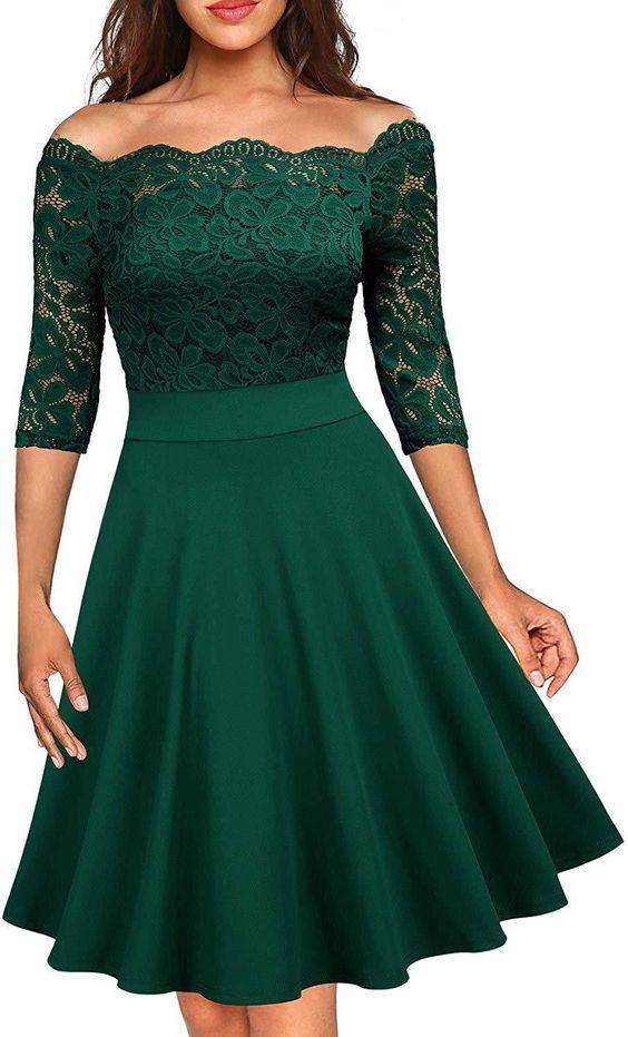 vestido verde renda 1