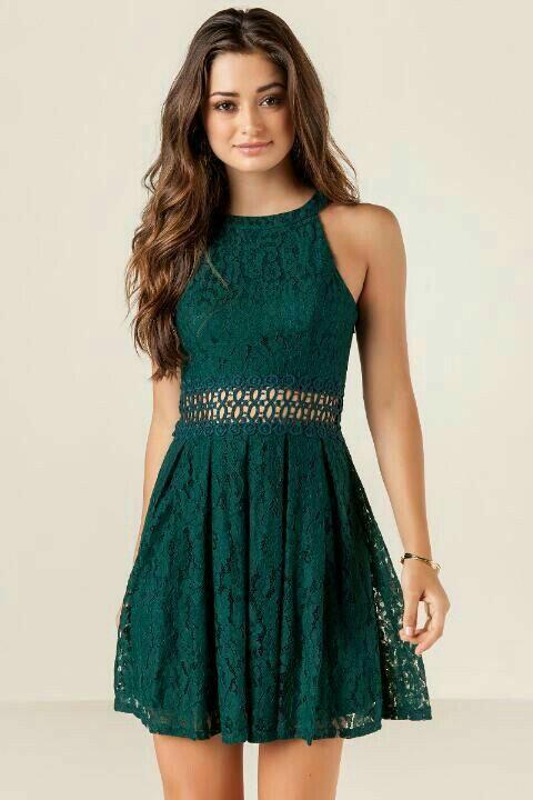 vestido verde renda 2