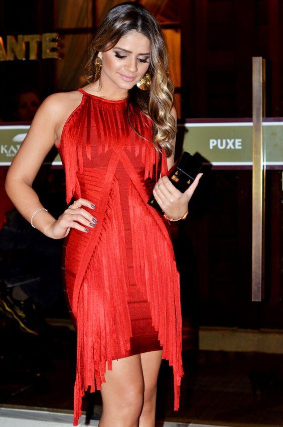 vestido vermelho curto balada