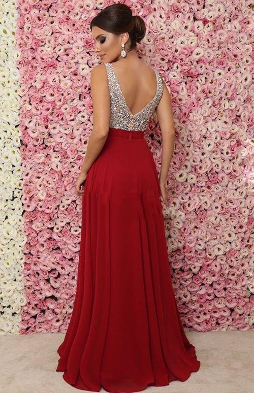vestido vermelho curto formatura
