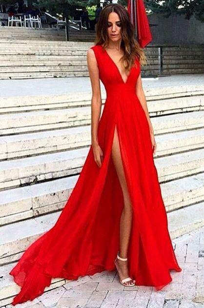 vestido vermelho curto longo 1