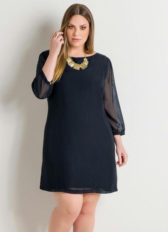 vestidos basicos festa preto
