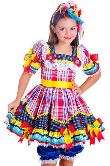 vestidos menina festa junina 2