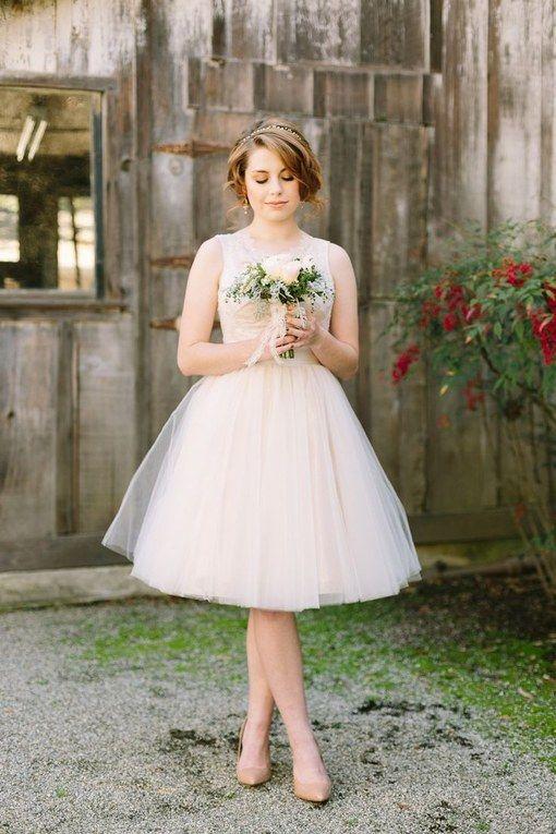 vestidos noiva curtos