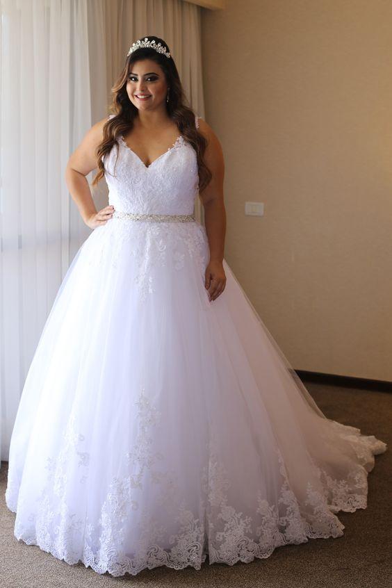 vestidos noiva plus size princesa