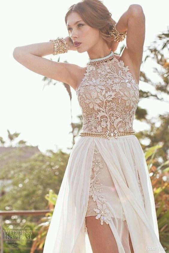 vestidos noiva praia